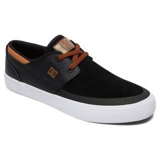 נעליים לסקייט נעליי סקייטבורד DC Shoes מדגם Wes Kremer נעליי הדגל של האגדה Evan Smith צבע שחור לבן