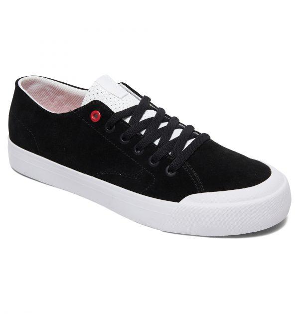 נעליים שחור לבן DC Shoes דגם Evan Lo Zero S צבע שחור לבן